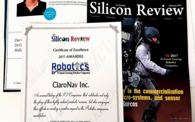 ClaroNav named as one of 10 Fastest Growing Robotics Companies 2017